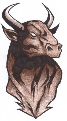 Impressive Bull Tattoo Design