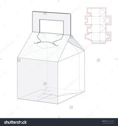 Tapered Caring Box With Die Line Template Ilustración vectorial en stock 329216780 : Shutterstock
