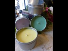 Container Candle Making Kit 12 Tins Modern Candles, Natural Candles, Blue Candles, Tin Candles, Candle Making Business, Candle Making Supplies, Cool Things To Make, How To Make, Candle Containers