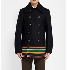 Raf Simons - Sterling Ruby Wool and Silk-Blend Peacoat | MR PORTER - coat mods