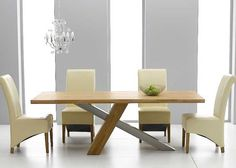 DISCOUNT-Chateau 195cm Solid Oak and Metal Dining Table with Kentucky Chairs