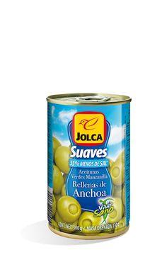 Rellenas con anchoa suave lata 314 ml #aceitunasrellenas #anchoa #Jolca