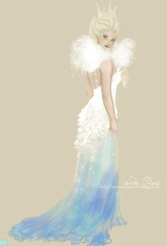 Gorgeous drawing of Elsa