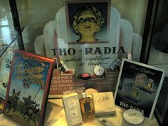 In the early 1930s, a pharmacist and a Parisian doctor launched a French range of radioactive beauty products.The product range, which included cleansing milk, skin cream, powder, rouge, lipstick and toothpaste, was called Tho-Radia as it contained thorium chloride and radium bromide, both of which were radioactive. Despite the relatively high price, it sold throughout France from 1933 through to the early 1960s. When tested in the 1960s the products were found to be radioactive