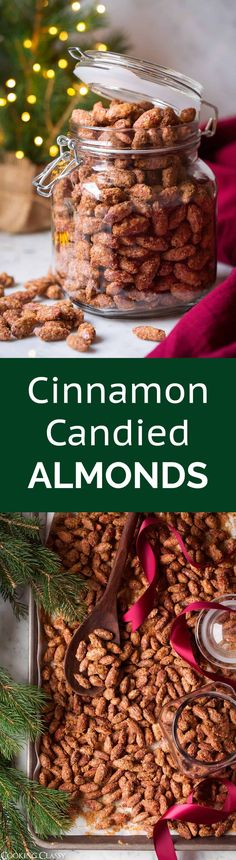 Cinnamon Candied Almonds - these are are one of the best holiday treats! I've been making these for years and once you try them you'll see why! #christmastreat #christmasgift #almonds #cinnamonalmonds #candiedalmonds via @cookingclassy
