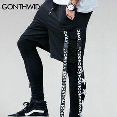 GONTHWID Lado Cinta de Cintura Elástica Con Cordón Pantalones Cortos Para  Hombre 2017 de Moda de Verano Hip Hop Harajuku Harem Bolsillo Shorts  Streetwear en ... 7eecf06fcf2