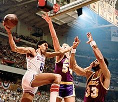 The Dr. Julius Erving! You are a true fan if you remember how this move ended! I not only admired his basketball skills back in the day, but his eloquence and grace always stood out to be as well. The basketball player was great, But the man has stood the test of time. Always a fan of The Dr.!