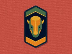 Outside Lands Patch: Bison by DKNG #Design Popular #Dribbble #shots