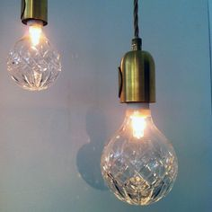 Crystal Bulb - Hand-blown and hand-cut lead crystal turn into light bulbs with changeable filaments