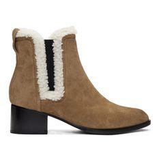 Rag & Bone - Tan Suede & Shearling Walker Boots