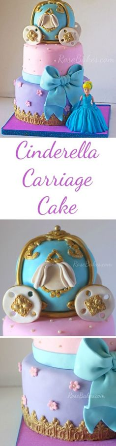 A Cinderella Carriage Cake for a very special little girl!