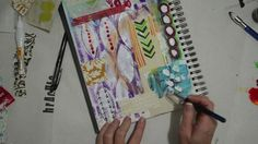 Watch the Process - HAPPY DAY art journal page by Roben-Marie Smith.  ***