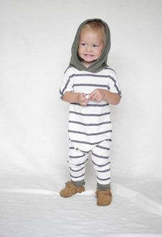 Ready To Ship 0-3 Harem style romper Striped Romper by AnchoreDeep