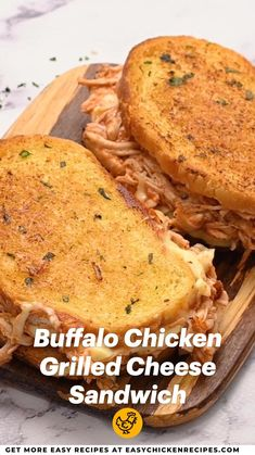 Buffalo Chicken Grilled Cheese, Buffalo Chicken Sandwiches, Buffalo Chicken Recipes, Garlic Chicken Recipes, Grilled Chicken, Lunch Recipes, Cooking Recipes, Lunches And Dinners, Lunch Ideas