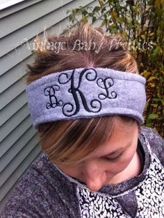 Women's Personalized Monogram Fleece Ear by vintagebabypretties
