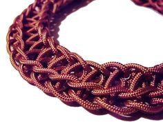 Diy Necklace - Collana intrecciata rosa antico - DIY- noxcreare
