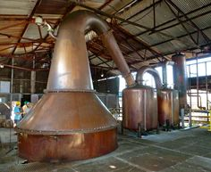 Lovely copper rum still.