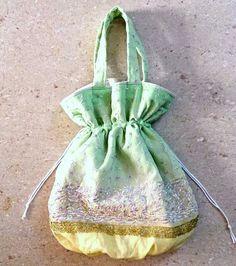 39x48㎝★送料無料キャンペーン中!小花刺繍のシフォン★マドモアゼル・トート巾着型★ - ボンベネーゼ