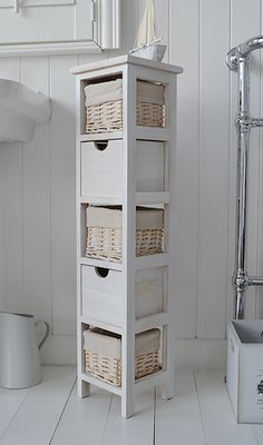 Beautiful Tall Bathroom Floor Cabinet