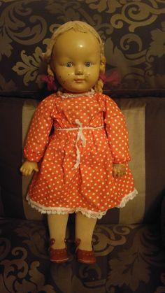 Кукла  Очень Редкая .Прессопилки. Артельная. 50-е годы.
