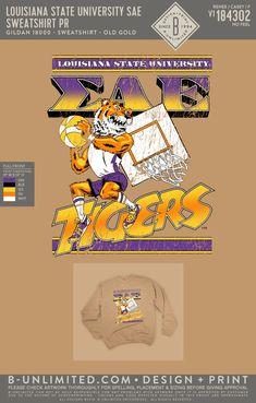 LSU Sigma Alpha Epsilon Gameday Sweatshirt | Fraternity Event | Greek Event #sigmaalphaepsilon #sae #lsu #tigers Sigma Alpha Epsilon, Louisiana State University, Greek Clothing, Lsu Tigers, Fraternity, Chair, Sweatshirts, Artwork, Ideas