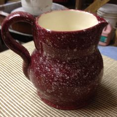 Water Pitcher : red enamel ware