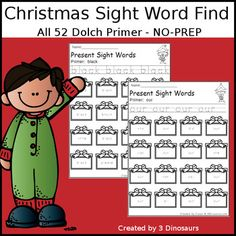 Spin & Color Dolch First Grade Sight Words - all 41 words in the ...