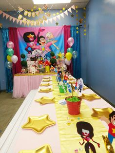 DIY Steven Universe Party Birthday Party Decorations, Party Themes, Room Decorations, 9th Birthday, Birthday Parties, Steven Universe Stickers, Adventure Time Parties, Fantasy Party, Pink Bubbles