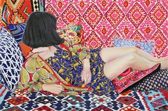 Artist Naomi Okubo keeps dazzling me with her paintings that pop off the canvas with so many stunning colors. Figure Painting, Painting & Drawing, Painting Inspiration, Art Inspo, Illustrations, Illustration Art, Art Chinois, Poster S, Wow Art