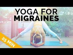 Yoga for Migraine & Headache Relief - Gentle, All Levels Yoga (25 Min) - YouTube
