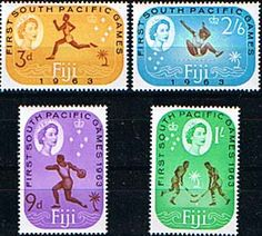 Fiji 1963 South Pacific Games SetFine Mint SG 329/32 Scott 199/202 Other European and British Commonwealth Stamps HERE!