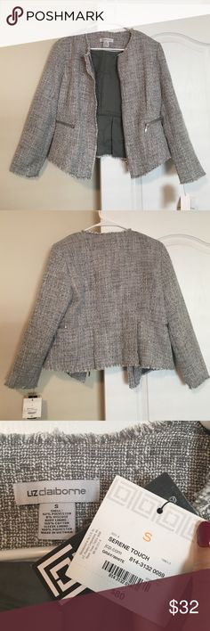 Liz Claiborne Jacket (never worn) Beautiful with pants or over a dress. Softer than tweed but a similar look. Never worn! Liz Claiborne Jackets & Coats