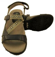 Stylish and comfortable, ladies golf sandals offer relief from leather golf shoes during the warmer months. Shop our large selection at Lori's Golf Shoppe! Check this out --> Sandbaggers Ladies Golf Sandals - TANGO Navy