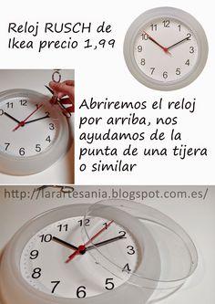Diy map clock ikea hack two dollar clock gets a map makeover cmo tunear un reloj rusch de ikea how to revamp a rusch ikea clock gumiabroncs Images