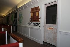 """Camp Courageous VBS our """"Camp Store"""".  We even have a screen door - thanks to our Wonderful Wayne!"""