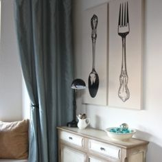Cutlery dining room or kitchen art---Uppercase Living has something VERY similar!!