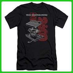 Atari 2600 Video System Interior And Exterior Console Adult Slim T-Shirt Tee - Gamer shirts (*Amazon Partner-Link)