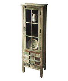 Love this Distressed Wood & Pastel Display Cabinet by Butler Specialty Company on #zulily! #zulilyfinds