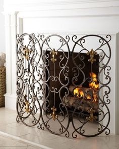 French inspired Fireplace screen