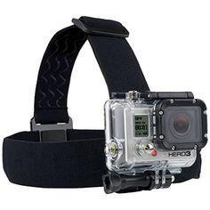 AFUNTA Gopro Head Strap Camera Mount Support All Gopro Hero3, Hero2, and Hd Hero Original Cameras AFUNTA