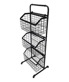 This Three-Basket Pipe Floor Stand by Wilco is perfect! #zulilyfinds