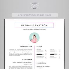 Cv Template  Compton By Introduice  Cv Templates On