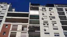 Izajes Del toro Hnos. Elevación heladera por balcón sogas guinche eléctrico