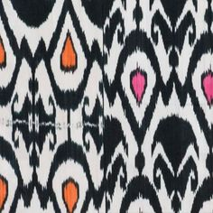 """Madeline Weinrib """"Sean Ikat"""" in Black – Revitaliste Tonal Harmony, Ikat Fabric, Saturated Color, Upholstery, Kids Rugs, Texture, Stitch, Cotton, Handmade"""