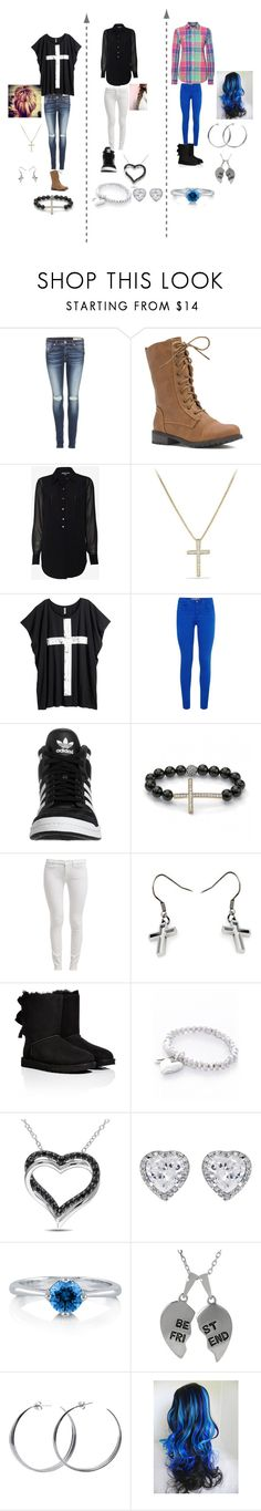 """""""daily outfits"""" by mandy-den ❤ liked on Polyvore featuring rag & bone, Vince, David Yurman, H&M, adidas Originals, 7 For All Mankind, JewelGlo, UGG Australia, Nouv-Elle and Ice"""