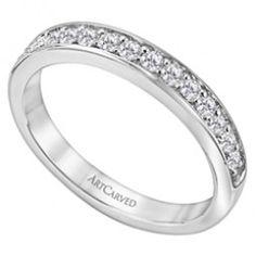 14k White Gold Prong Set Natalia Matching Diamond Wedding Band