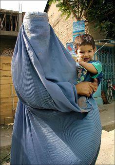 Mother in Burka - Kabul, Afganistan