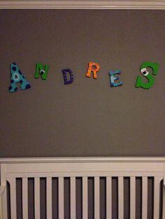 Monsters Inc baby nursery wood letters name monster's inc