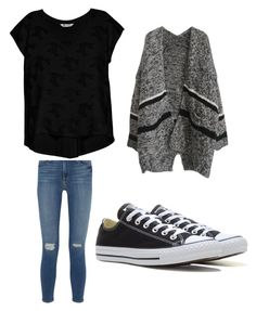 """""""Perrysburgers"""" by brittany-wilkewitz on Polyvore featuring Frame Denim, Bobeau and Converse"""