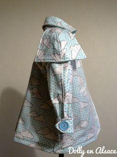 Retro child rain jacket | Veste de pluie retro | Dolly en Alsace